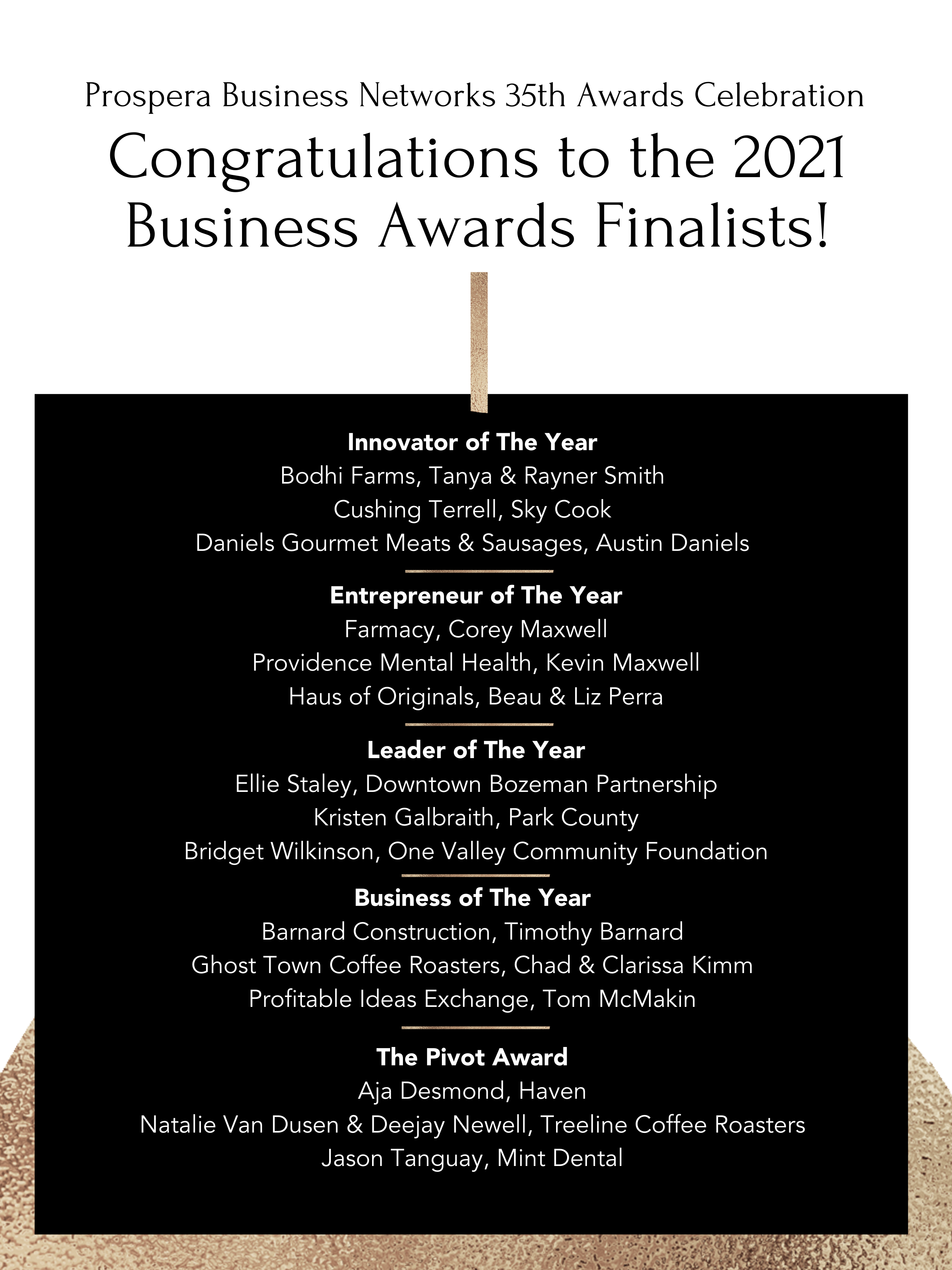Congratulationsto The 2021 Business Awards Finalists 3